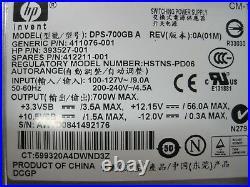 1 1HE Rack ServerHP Proliant DL360 G5 2x xeon quad 32gB RAM700watt redundant