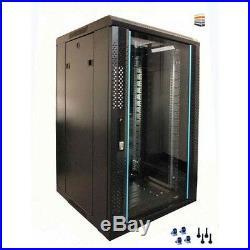 12u Server Rack/cabinet 600 (W) x 800 (D) x 634 (H) Glass Front Door Flat Pack