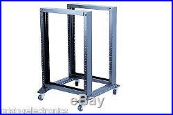 15U 4 Post Open Frame 19 Server/Audio Rack 17 Deep 600MM