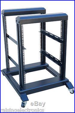 15U 4 Post Open Frame 19 Server/Audio Steel Rack 17 Deep 600MM