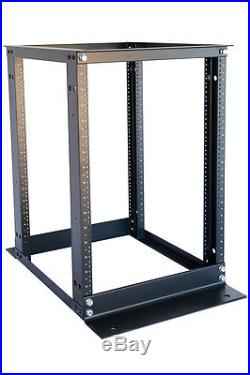 15U 4 Post Open Frame Server Rack Enclosure 19 Adjustable Depth Aluminum