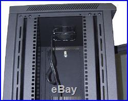 15U IT Wall Mount Network Server Data Cabinet Rack Locking Lock & Key 24 Deep