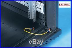 15U Server Rack cabinet 600 (W) x 800 (D) x 769 (H) Glass Front Door serverrack
