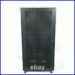 15U Wall Mount Network Server Cabinet Rack Enclosure glass Door Lock