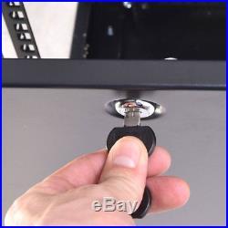 15U Wall Mount Network Server Data Cabinet Enclosure Rack Glass Door Lock & Fan