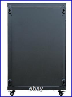 18U 24 Deep Wall Mount IT Network Server Rack Cabinet Enclosure. Accessories in