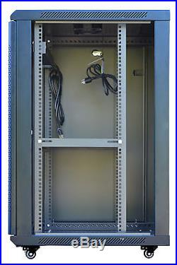 18U 24 Deep Wall Mount IT Network Server Rack Cabinet Enclosure Lockable 19