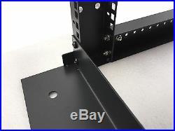 18U 4 Post Open Frame 19 Network Server Rack on Caters Adjustable Depth 24-37