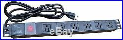 18U Wall Mount IT Network FULLY EQUIPPED Server Rack Cabinet Enclosure 24 Depth