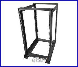 19 20U 31.5 D Heavy Duty 4 Post Open Frame Server Rack, NEW