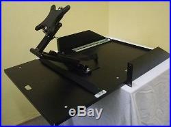 19 Monitorauszug schwarz, Rackauszug, Auszug / Rackschublade für Monitore NEU