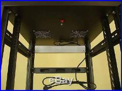 19 Stahlschrank SRT-19, 16 HE, mit Tür Serverschrank Studiorack Netzwerkschrank
