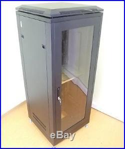 19 Stahlschrank SRT-19, 28 HE, mit Tür Serverschrank Studiorack Netzwerkschrank