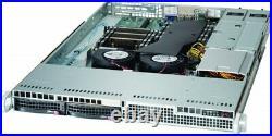 1U Supermicro 2 Bay LFF Server 2x Xeon E5-2630 v2 12 Core 2.6Ghz 32GB Dual PS