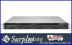 1U Supermicro Server 20 Depth X10SLM-F XEON E3-1270 V3 3.5Ghz 8GB RAM RAILS