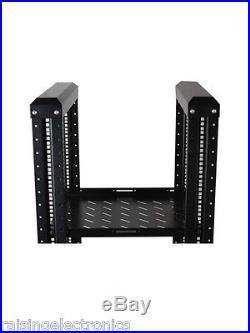 22U 4 Post Open Frame Network It Server Rack 600mm 17Deep 3 pairs of L-Rails