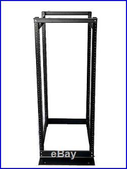 22U 4 Post Open Frame Server Rack Enclosure 19 Adjustable Depth Aluminum