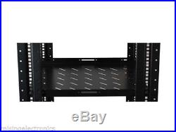 27U 4 Post Open Frame Network Server Rack 16 Deep With 3 Pairs of L Rails