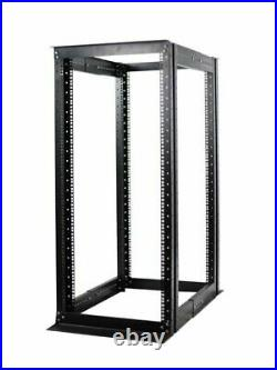 27U 4 Post Open Frame Server Network Data Rack Enclosure 19''Adjustable Depth