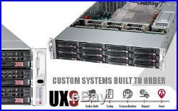 2U 12 Bay DAS Supermicro Server X9DRI-LN4F+ IPASS 2x E5-2650 V2 128GB HBA RAID