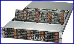 2U 24 Bay LFF SAS3 12Gbs FREENAS Server X10DSC+ Xeon E5-2620 V3 12 Core 4x SFP+