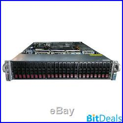 2U BAREBONES 24GB RAM WITH 2X CPU CISCO/SUPERMICRO 24 Bay 2.5 X8DAH+-F SERVER
