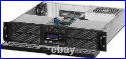2U (Door LCD) (4x5.25+ 4x2.5 HDD Bay)(Rackmount Chassis)(D16.93 ITX Case)NEW
