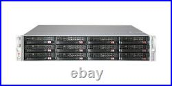 2U Supermicro 12 Bay LFF JBOD Storage CSE-826E26-RJBOD1 SAS2 Dual Expander Rail