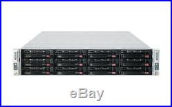 2U Supermicro 2 Node FAT Twin Server Intel 4x Xeon E5-2620 V2 Hex Core 32GB Rail