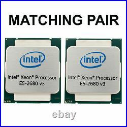 2x Intel Xeon E5-2680 v3 12x2,5GHz-3,3GHz 12 Core CPU LGA2011-3 Matched Pair