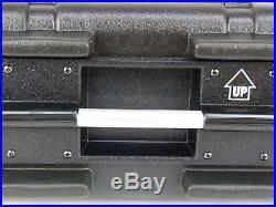 4 HE Double Door Hartschlenrack Flightcase KR-19, 4HE ABS Kunststoffrack schwarz