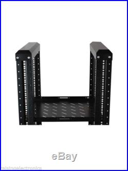 4-Post 22U Adjustable Open Frame Server Rack IT Network Relay IT 800mm Casters