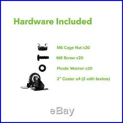 4-Post Adjustable Open Frame Server Rack IT Network Relay IT 22U 800mm Casters