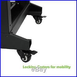 4-Post Adjustable Open Frame Server Rack IT Network Relay IT 42U 800mm Casters