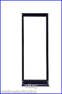 42U 2 Post Open Frame IT Network Server Relay Rack 900LB Capacity