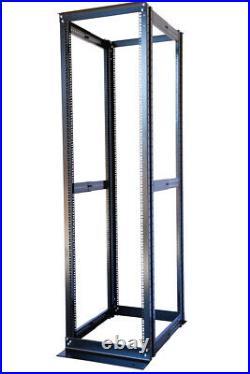 42U 4 Post Open Frame Server Data Rack 19 Adjustable Depth 23-32