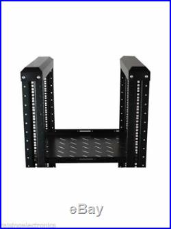 42U Open Frame Server Network Rack 32Deep 4 Post With 3 Pairs OF L-Rails 1000MM