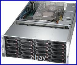 4U 36 Bay Server SAS2 Expander X9DRI-LN4F+ 2x E5-2650 V2 128GB FREENAS IT MODE