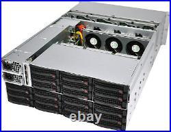 4U Supermicro 24 36 45 Drive JBOD RAID Server Expander SC847E16-RJBOD HP P222