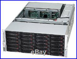 4U Supermicro 45 Bay SAS2 JBOD Storage 847E16-RJBOD W LSI 9207-8e HBA controller