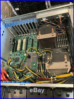 4U Supermicro 8 Bay Server Mining 4x GPU SLOT 7046GT-TRF 2x Xeon Quad Core 96GB