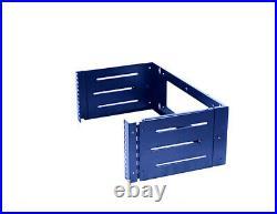 4U Wall Mount Open Frame 19'' Server Equipment Rack adjustable 12-18 inch depth