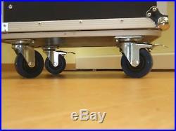 5/16 HE Spezial Stage Case, rollbar mit Tisch Workstation Winkelrack Flightcase