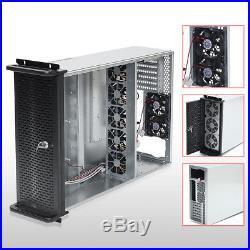 6 GPU 4U Rackmount Mining Server Case with 10 FANS Rsiers Frame Rig