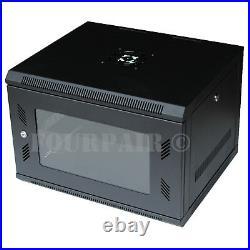 6U Wall Mount IT Server Network Cabinet Rack Enclosure Glass Door Lock 18 Deep