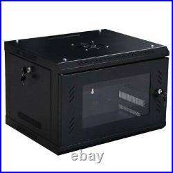 6U Wallmount Data Cabinet Enclosure Server Network Rack w Locking Door