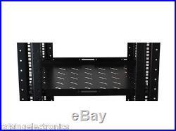 7FT 42U Open Frame Server Network Rack 17 Deep 600MM 4 Post. Black