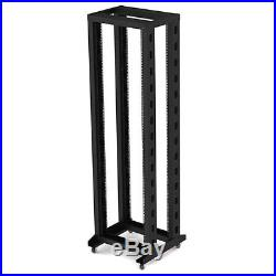 7ft Open Frame 19 42U 4Post Network Audio Rack Rolling with Casters OR-4A6642