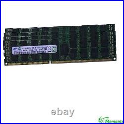 96GB (6x16GB) PC3-10600R DDR3 4Rx4 ECC Reg RDIMM Server Memory RAM for Dell R510