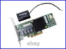 ASR-71605 Adaptec 2274400-R 16 Port SAS SATA 6Gbps 1GB PCI-E RAID Controller